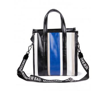 Сумка женская арт. 03-13665 синий/чёрный