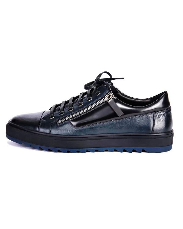 Туфли мужские арт. 04-D438-601-1 синий/чёрный ос18