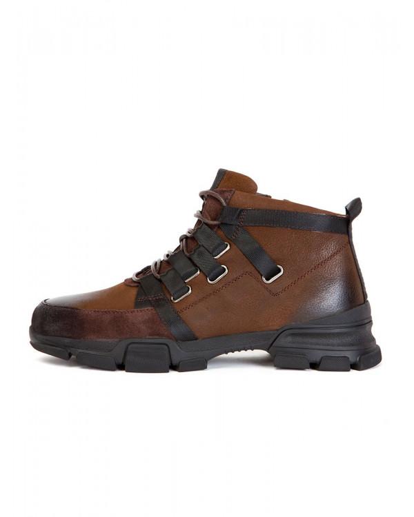Ботинки мужские арт. 14-G36-7E-683 коричневый