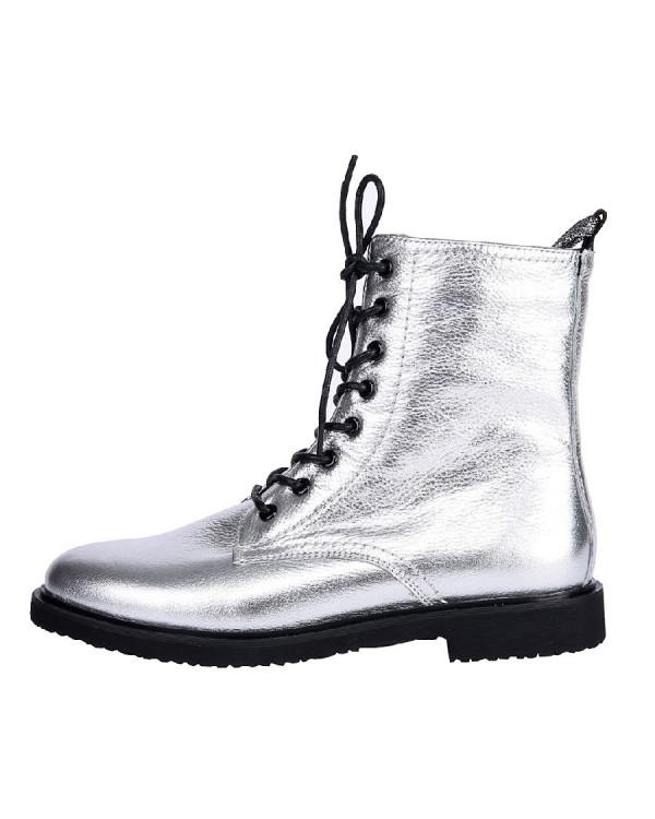 Ботинки женские арт. 22-01-2160 серебро