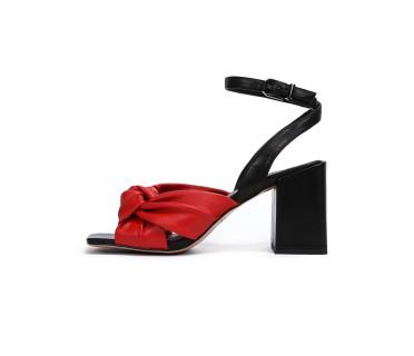 Berta босоножки женские арт. 26-TYL363-8-1 красный/чёрный