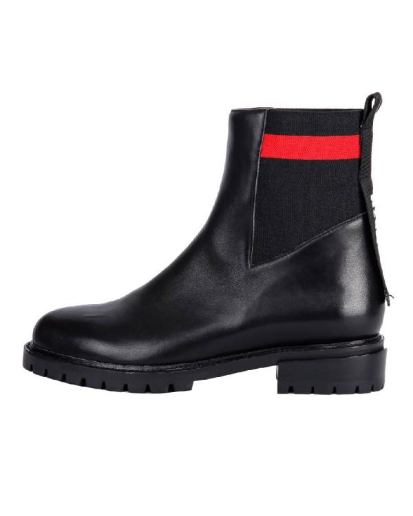 Ботинки женские арт. 36-17733-611-1 черный/красный