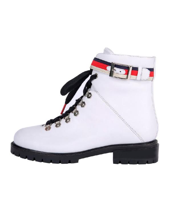 Ботинки женские арт. 36-17733-613-2 белый/чёрный