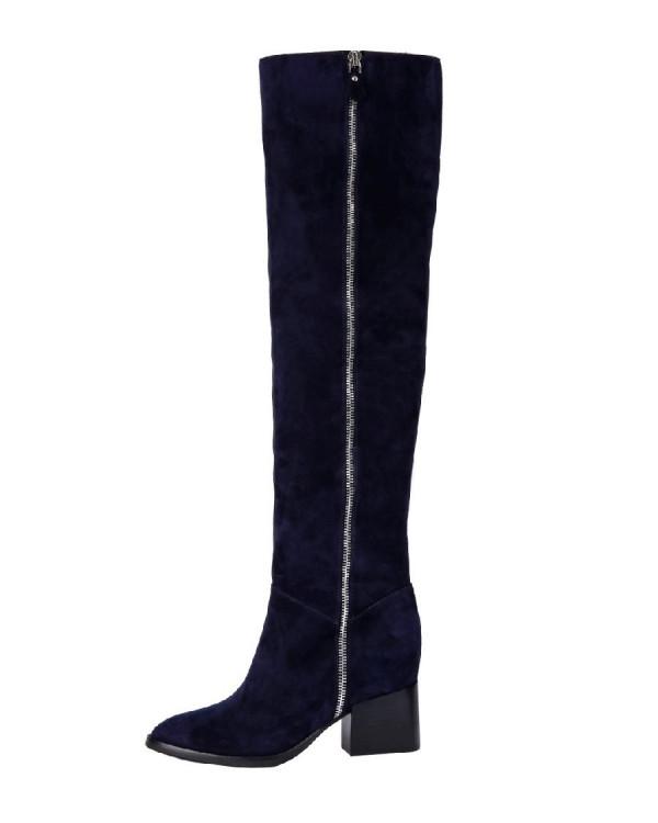 Ботфорты  женские арт. 42-BLA68122-72-3 т.синий