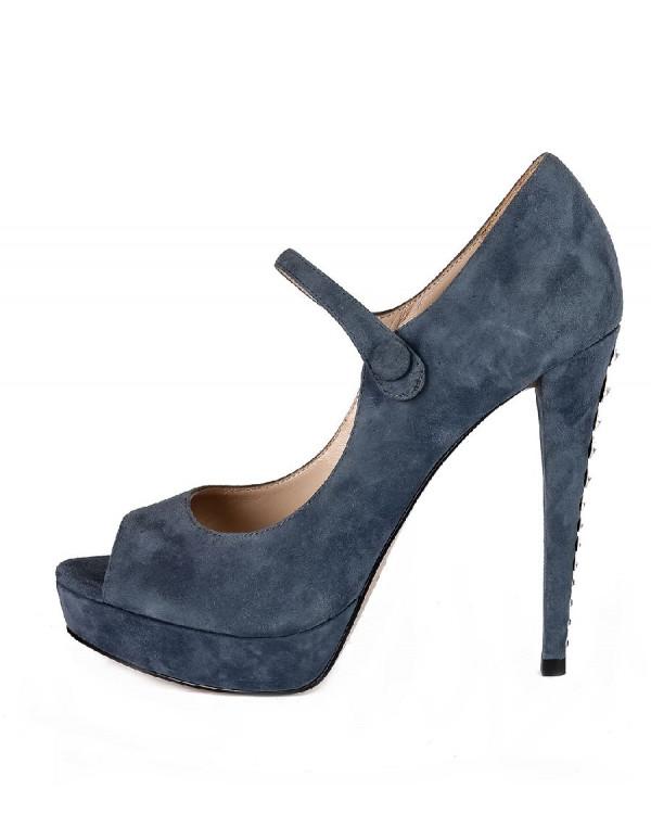 Туфли женские арт. 42-P732-66-3 синий