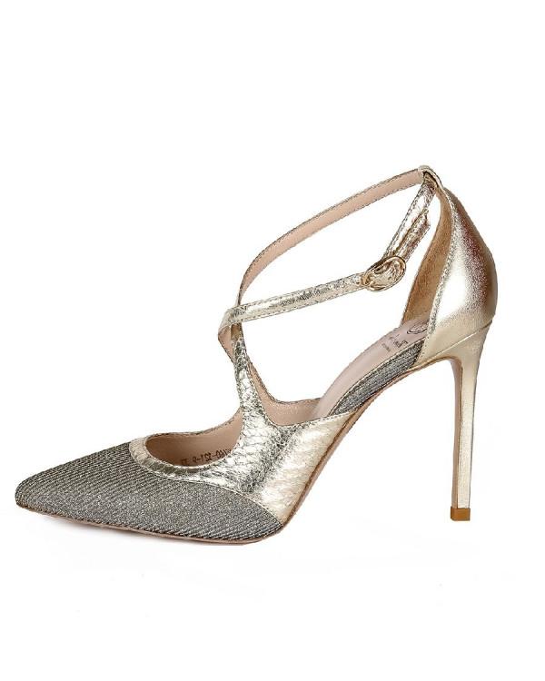 Туфли женские арт. 42-P760-121-9 золото