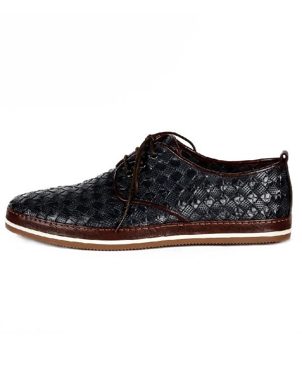 Туфли мужские арт. 46-543-80102 т.синий