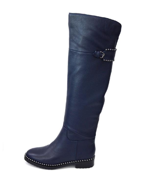 Сапоги женские арт. 48-W3663B-6200R т.синий