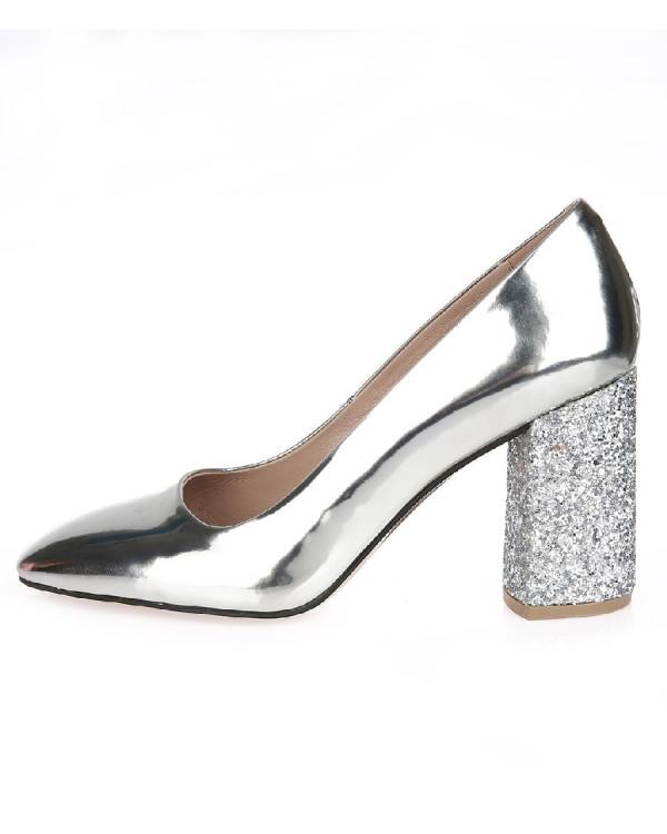 Туфли женские арт. 52-1704-710A серебро