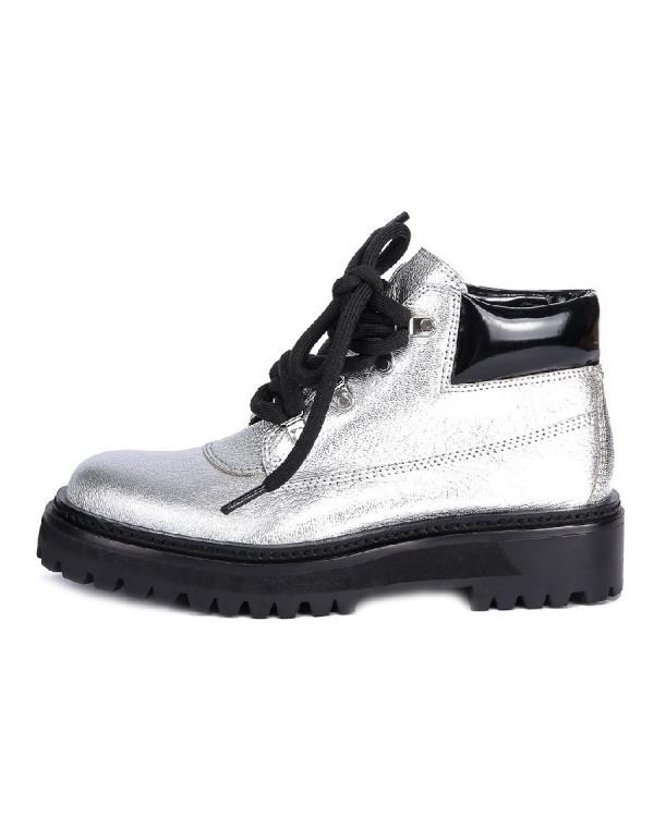 Ботинки женские арт. 52-1805-810 белый/чёрный