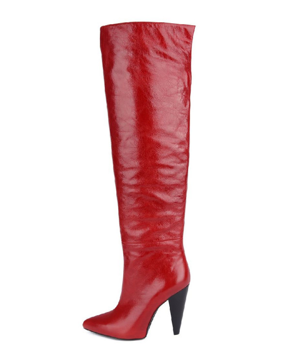 Ботфорты  женские арт. 52-1809-89A красный