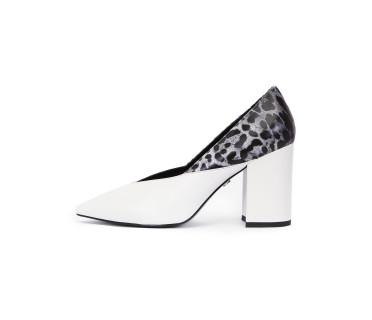 Туфли женские арт. 52-1930-91C белый/серый леопард