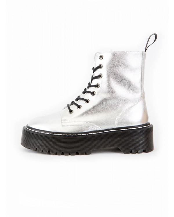 Ботинки женские арт. 52-1937-92E серебро л21
