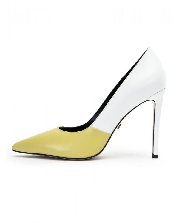 Eliza туфли женские арт. 52-1939-911 жёлтый/белый