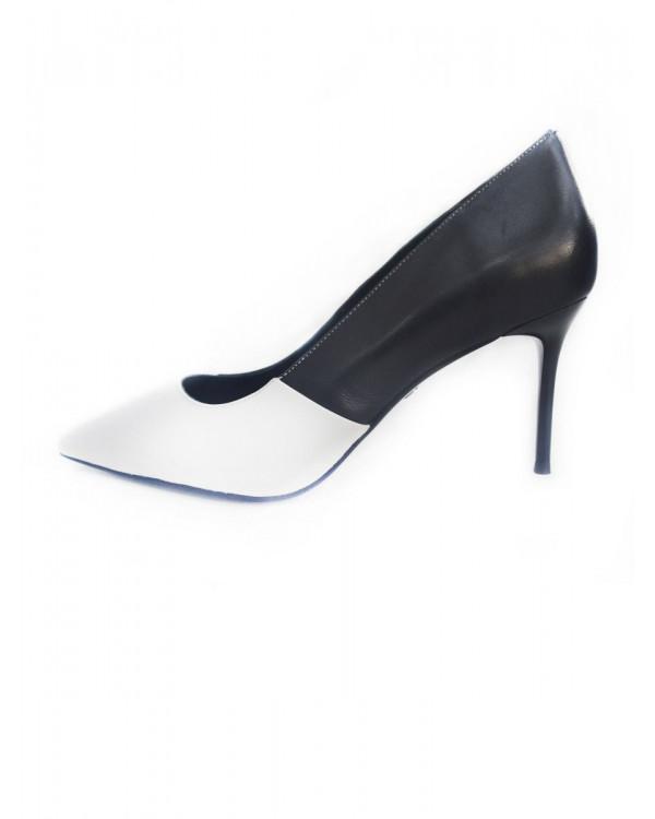 Caren туфли женские арт. 52-1958-910 белый/чёрный