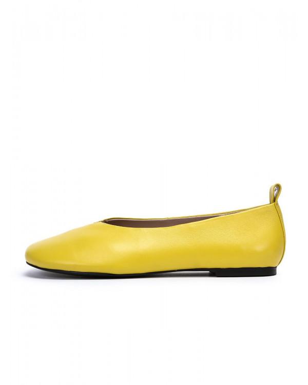 Jully балетки женские арт. 52-1990-91C жёлтый