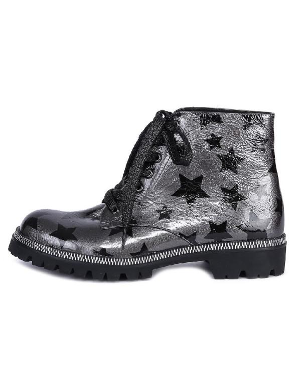 Ботинки женские арт. 52-375-86C серый/чёрный