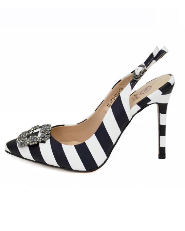 Туфли женские арт. 57-D383-S714 черн./бел.