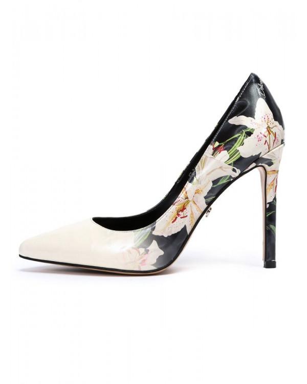 Туфли женские арт. 57-D426-S651-65 чёрный/молочный