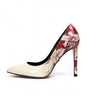 Туфли женские арт. 57-D426-S651-66 красный/молочный