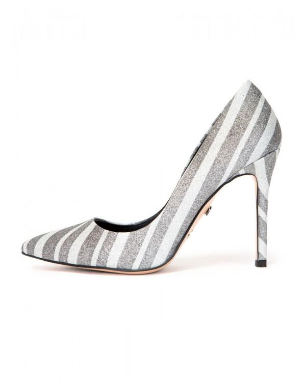 Туфли женские арт. 57-D440A-S1979 серый/белый