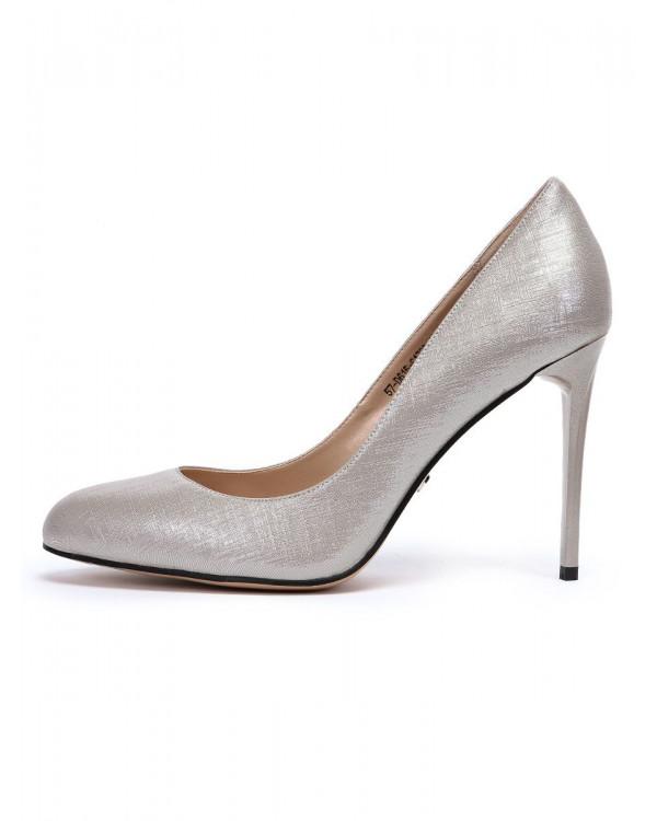 Туфли женские арт. 57-D615-S1733-11 серебро