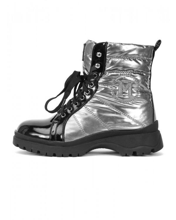 Ботинки женские арт. 57-H1083AM-G134 чёрный/серый