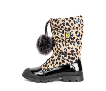 Дутики женские арт. 57-H1091-R1023M бежевый леопард