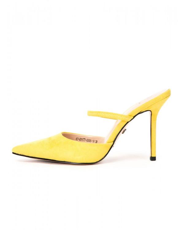 Мюли женские арт. 57-H1177-K998-14 жёлтый