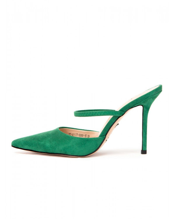 Мюли женские арт. 57-H1177-K998-15 зелёный
