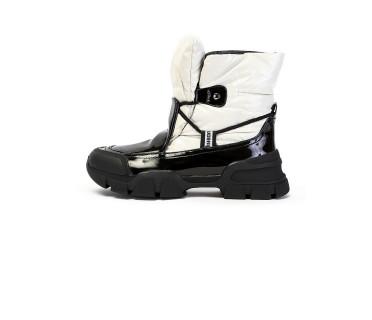 Ботинки женские арт. 57-H1294AM-K1619-2 кремовый/чёрный
