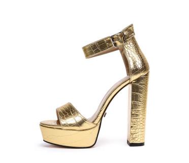 Босоножки женские арт. 57-Q280-H06-1 золотой