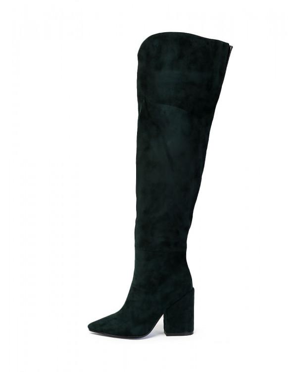 Ботфорты  женские арт. 57-Y1660-F1-1 т.зелёный