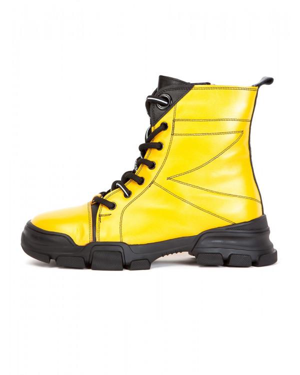 Ботинки женские арт. 70-2000 жёлтый