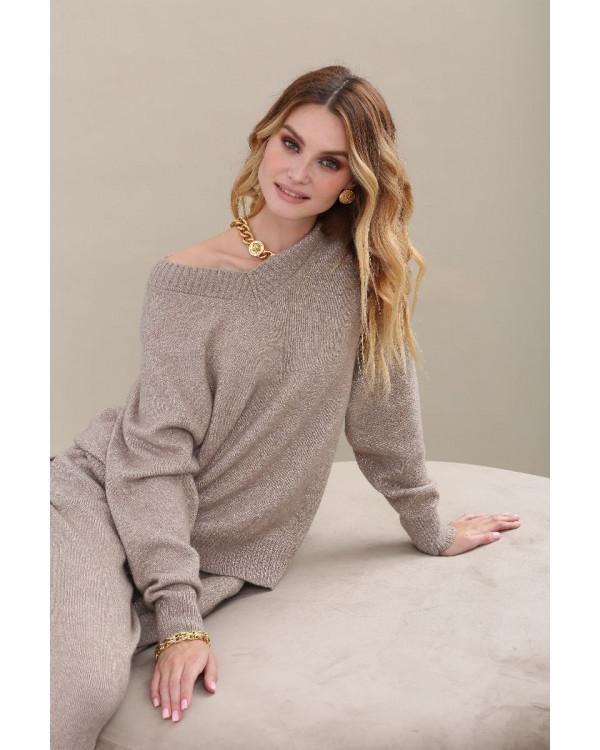Пуловер из альпаки женский арт. L02 бежевый