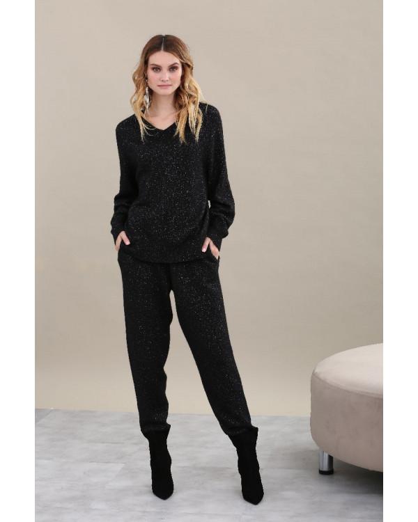 Пуловер из альпаки женский арт. L02 чёрный