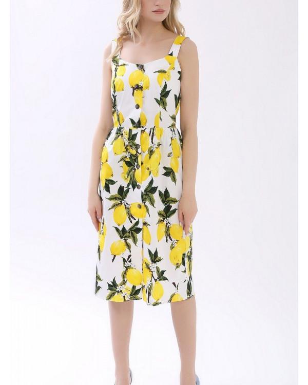 Платье женское арт. MD-21-001 лимоны