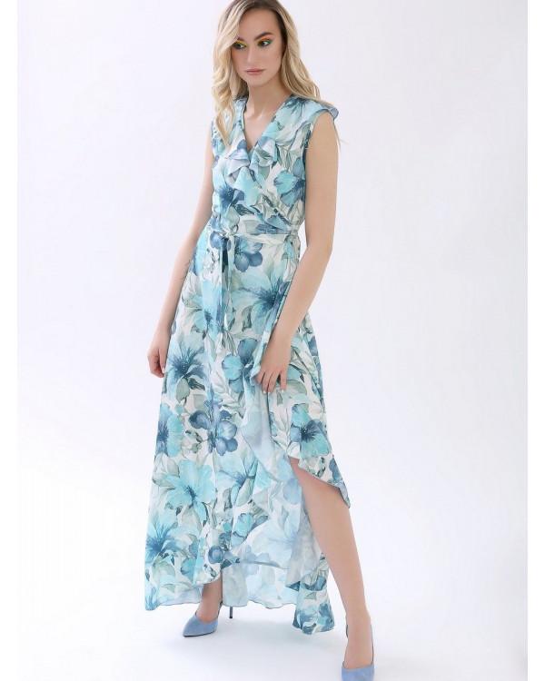 Платье женское арт. MD-21-002 голубой
