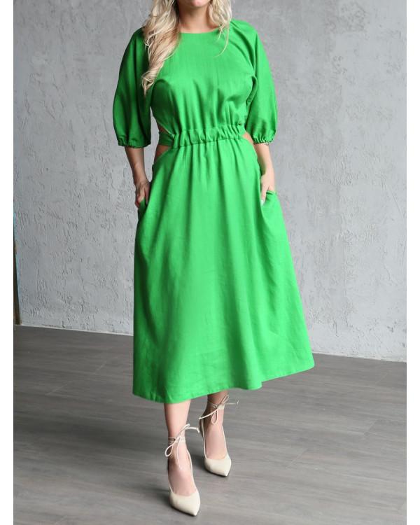 Платье женское арт. MD-21-006 зелёный